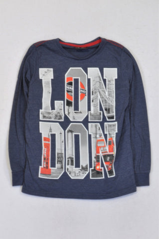 New Wave Dusty Blue London T-shirt Boys 9-10 years