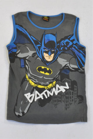 Batman Grey & Blue Tank Top Boys 11-12 years