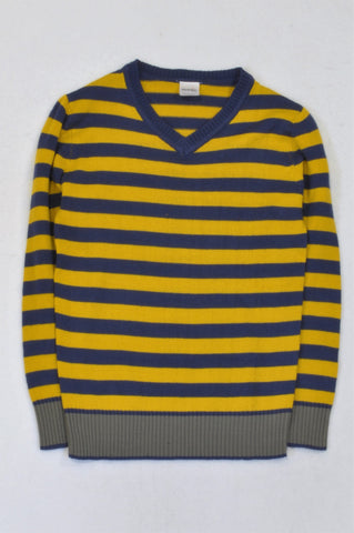 New Revolution Yellow & Blue Knit Striped Jersey Boys 9-10 years