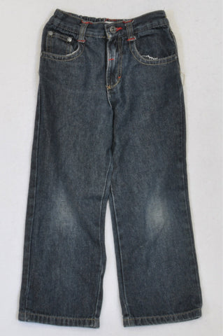Jet Dark Stone Washed Red Stitch Jeans Boys 5-6 years