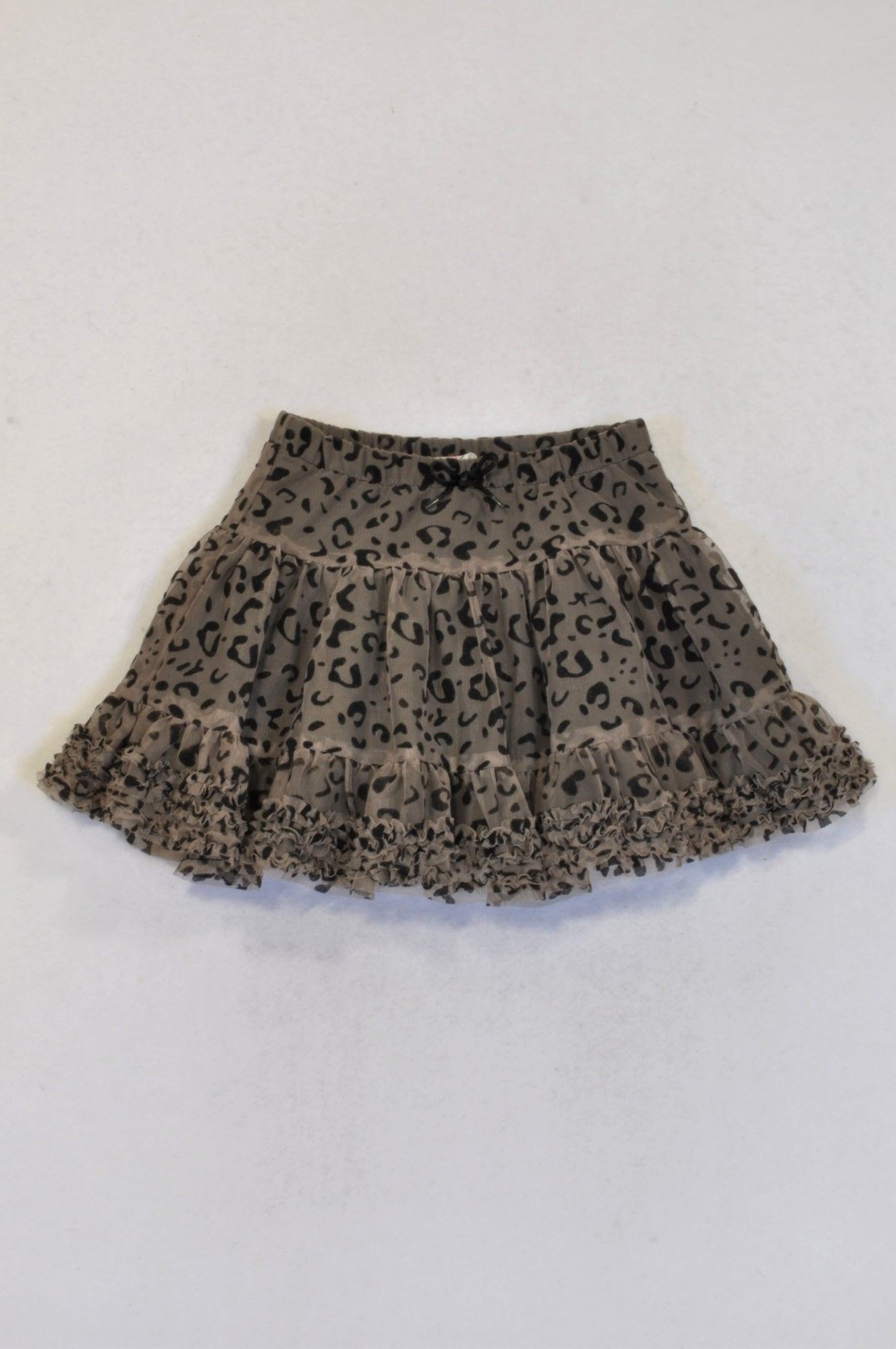 H&M Olive Leopard Print Tulle Skirt Girls 3-4 years
