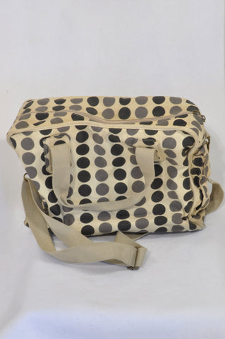 Beige & Grey Dotted Nappy Bag Unisex N-B to 2 years