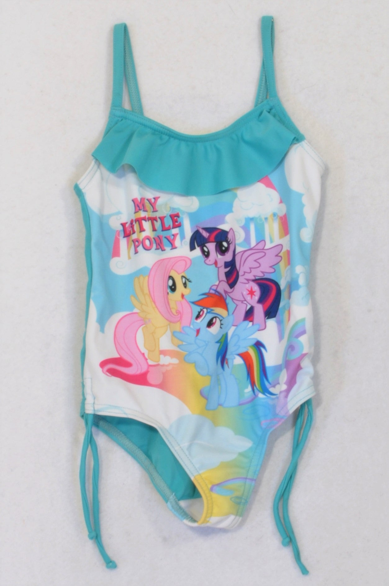 My Little Pony Soft Blue Rainbow Frill Swim Suit Girls 3-4 years
