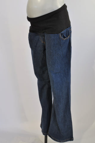 Cherrymelon Stone Washed Wide Leg Maternity Jeans Size 42