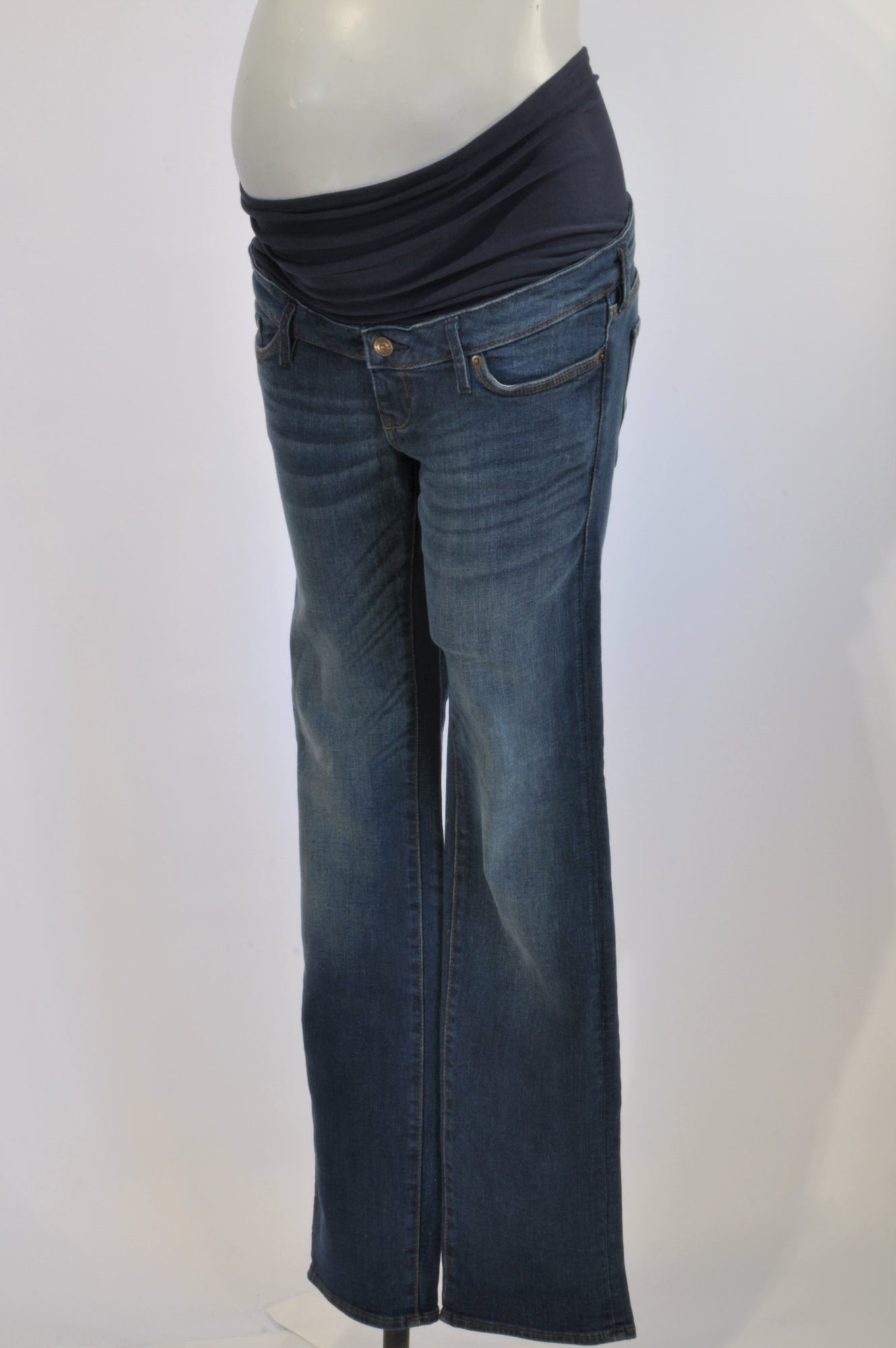 H&M Stone Washed Straight Leg Maternity Jeans Size 10