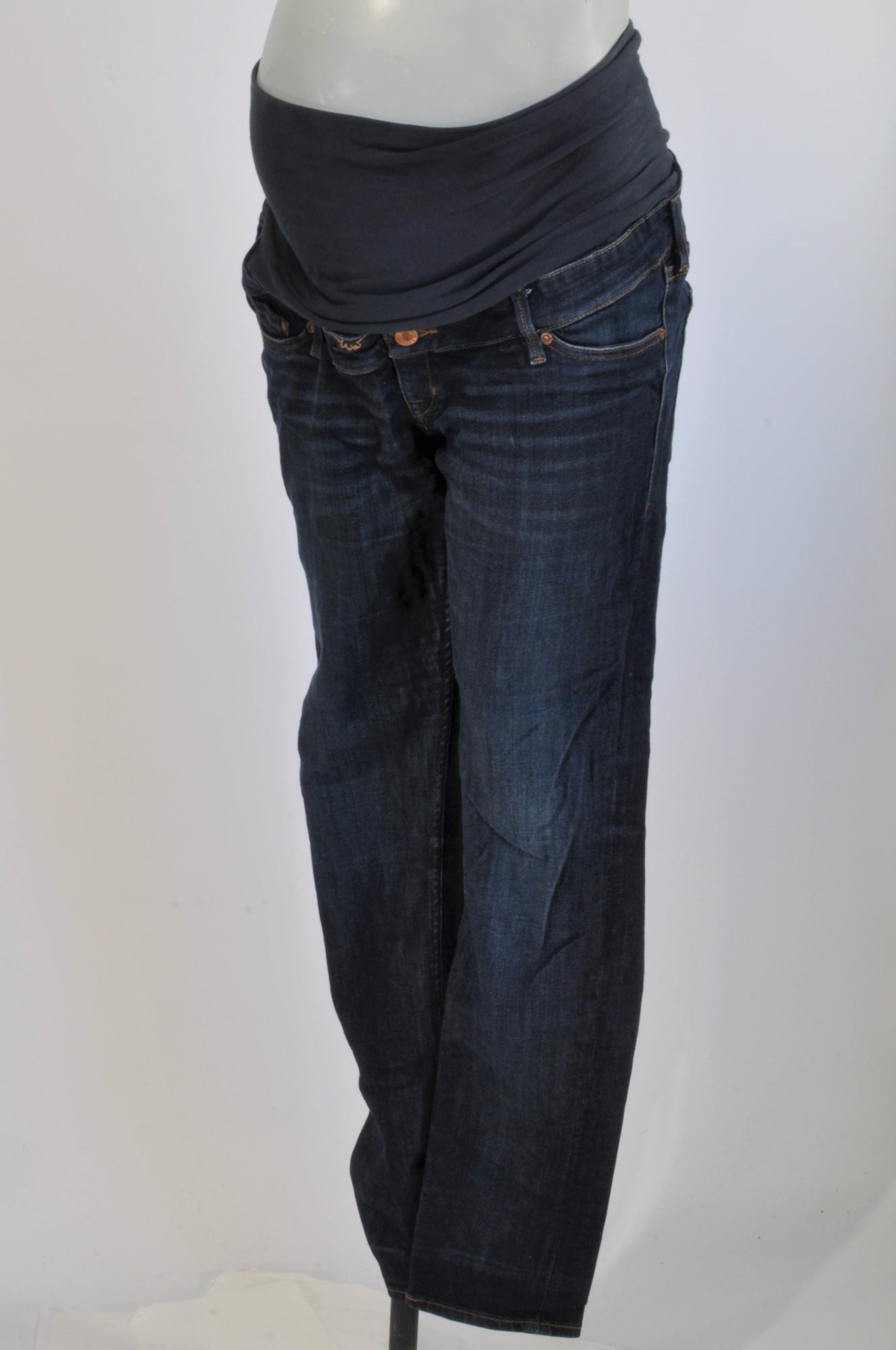 1f072095aa257 H&M Acid Wash Wide Leg Maternity Jeans Size 14 – Once More