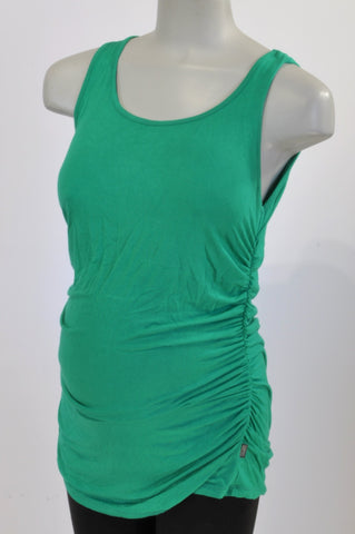 Cherrymelon Bright Green Nursing Friendly Tank Maternity Top Size L