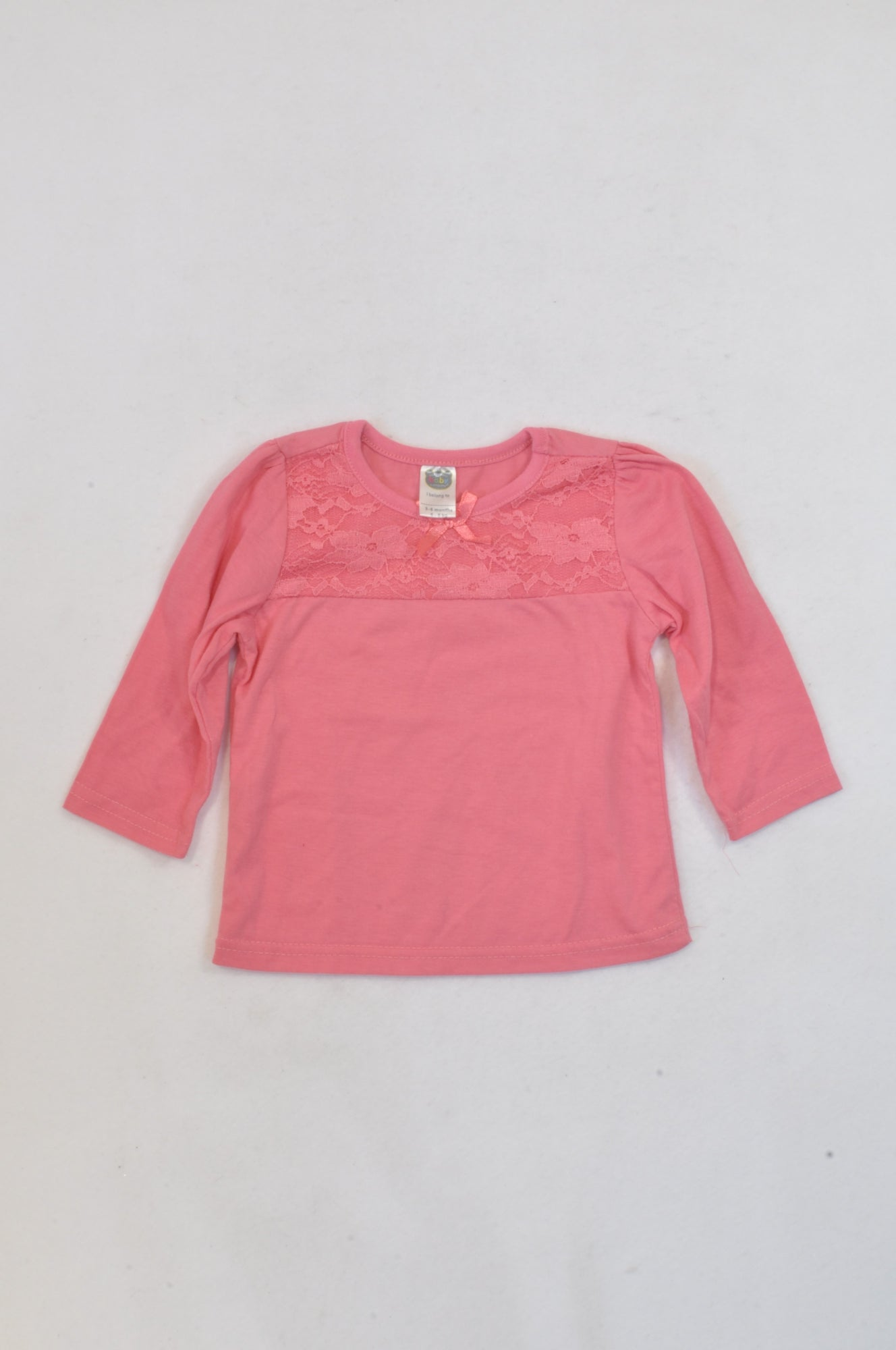 Ackermans Pink Lace Overlay T-shirt Girls 3-6 months