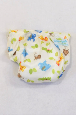 New Bam+Boo Jungle Animal All-in-One Cloth Nappy Unisex N-B to 6 months