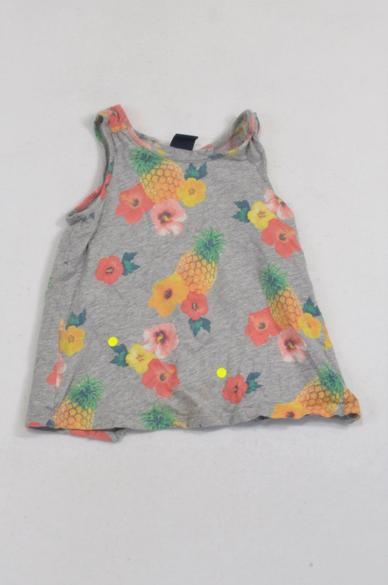04ac7c2ae9d GAP Grey Pineapple Drape Back Tank Top Girls 3-4 years – Once More