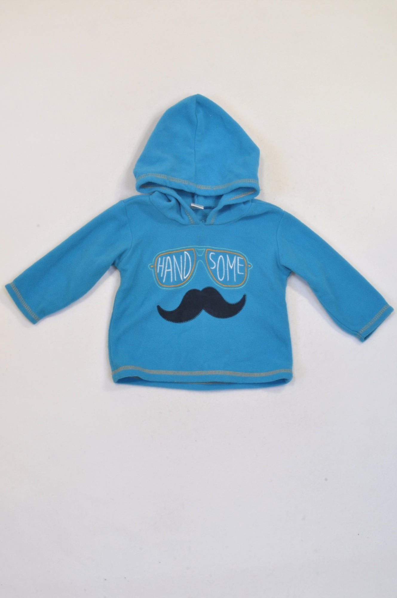 Ackermans Blue Fleece Handsome Hoodie Boys 3-6 months
