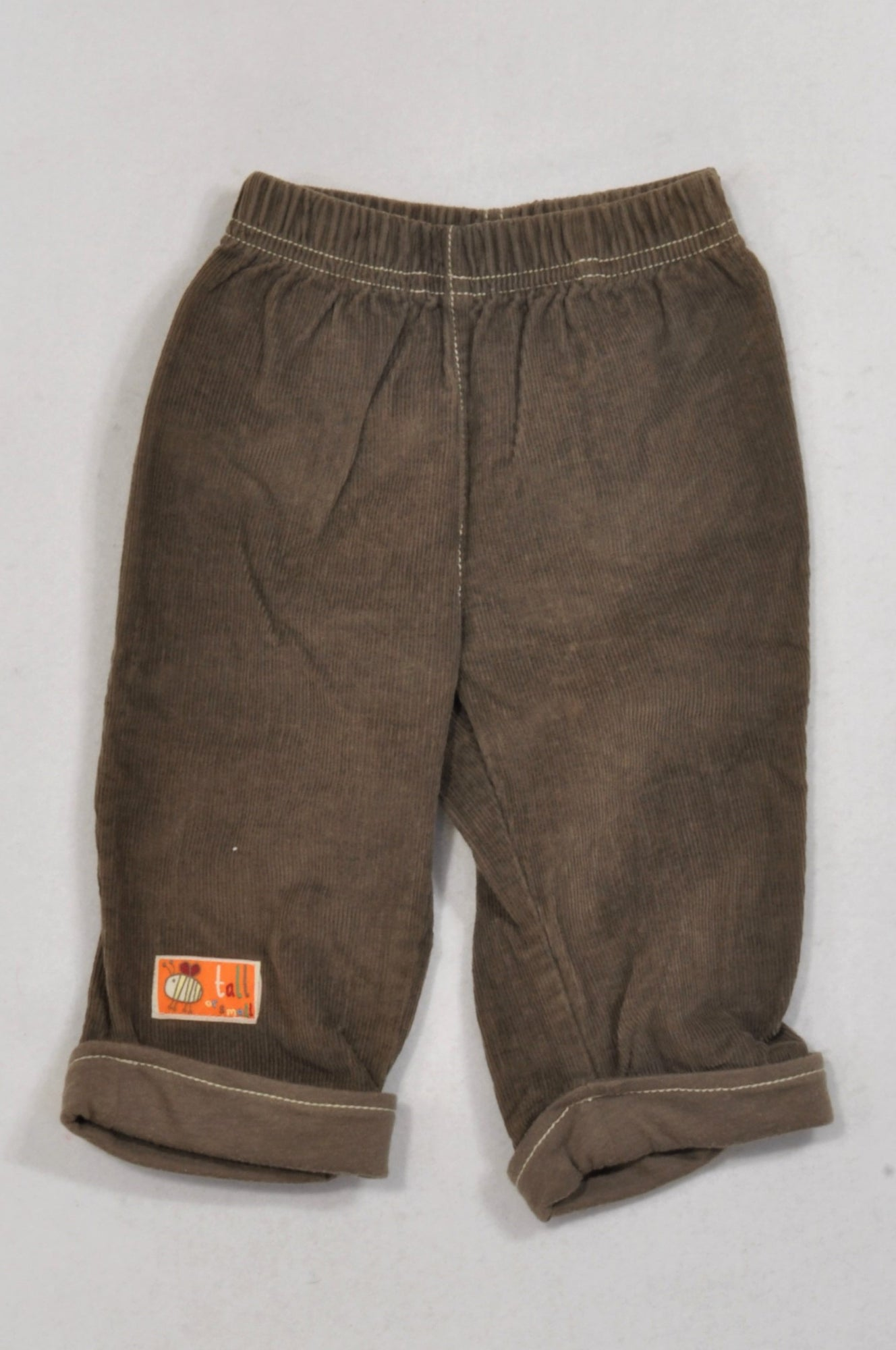 Ackermans Brown Roll-Up Corduroy Pants Boys 3-6 months