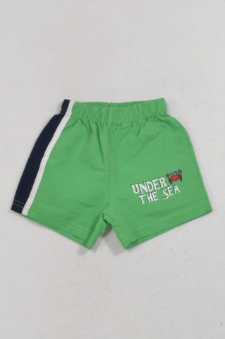 Kinnergoet Green Under The Sea Shorts Boys 3-6 months