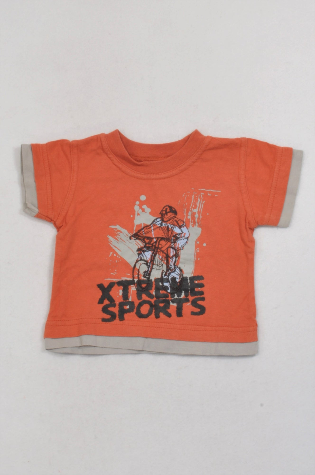Ackermans Orange Extreme Sports T-shirt Boys 3-6 months