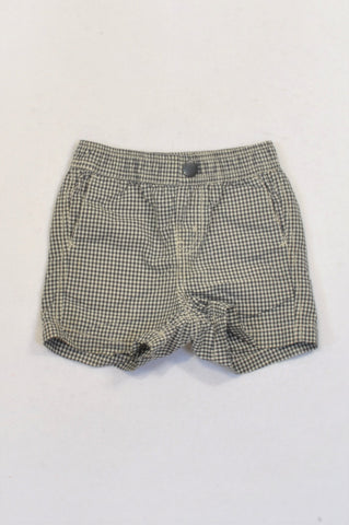 Country Road White & Navy Checkered Shorts Unisex 6-12 months