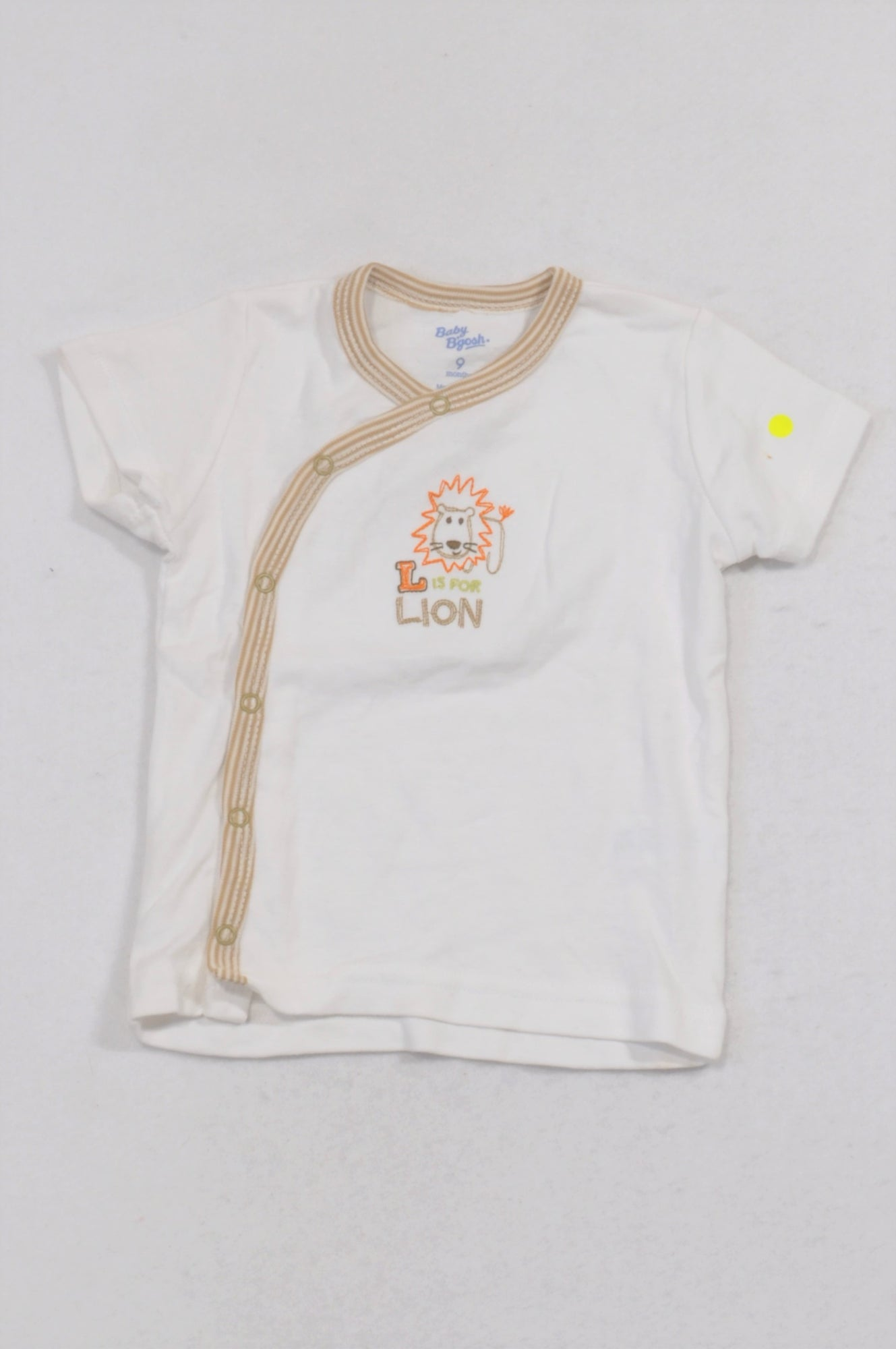 Baby B'gosh L Is For Lion Kimono Snap T-shirt Boys 6-9 months