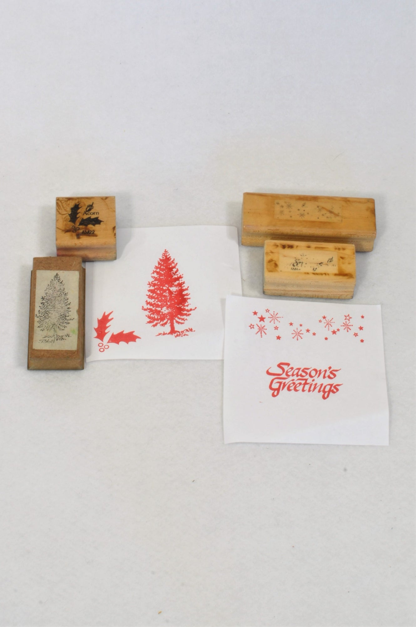 4 Pack Season's Greetings Stamps Toy Unisex 1-8 years