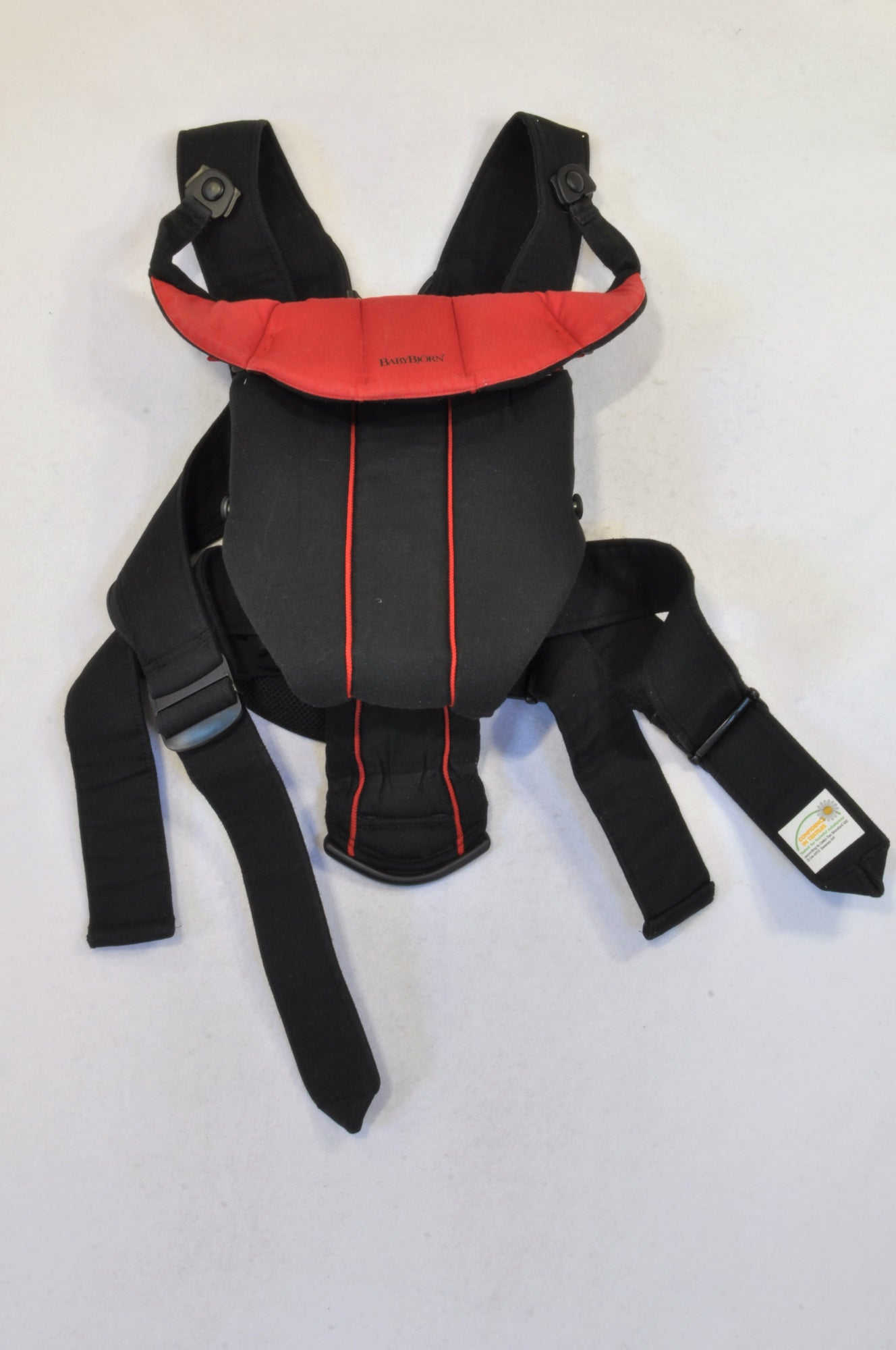 db0120a9858 Baby Bjorn Red   Black Active Baby Carrier Unisex NB to 18 months ...