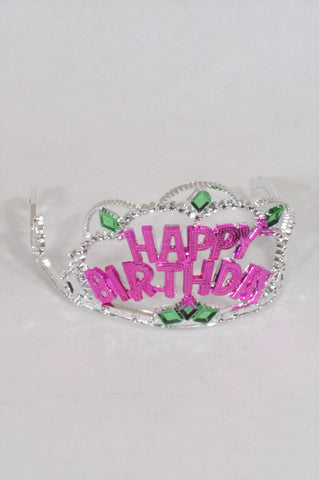 New Party Favors Happy Birthday Crown Accessory Girls 2-10 years