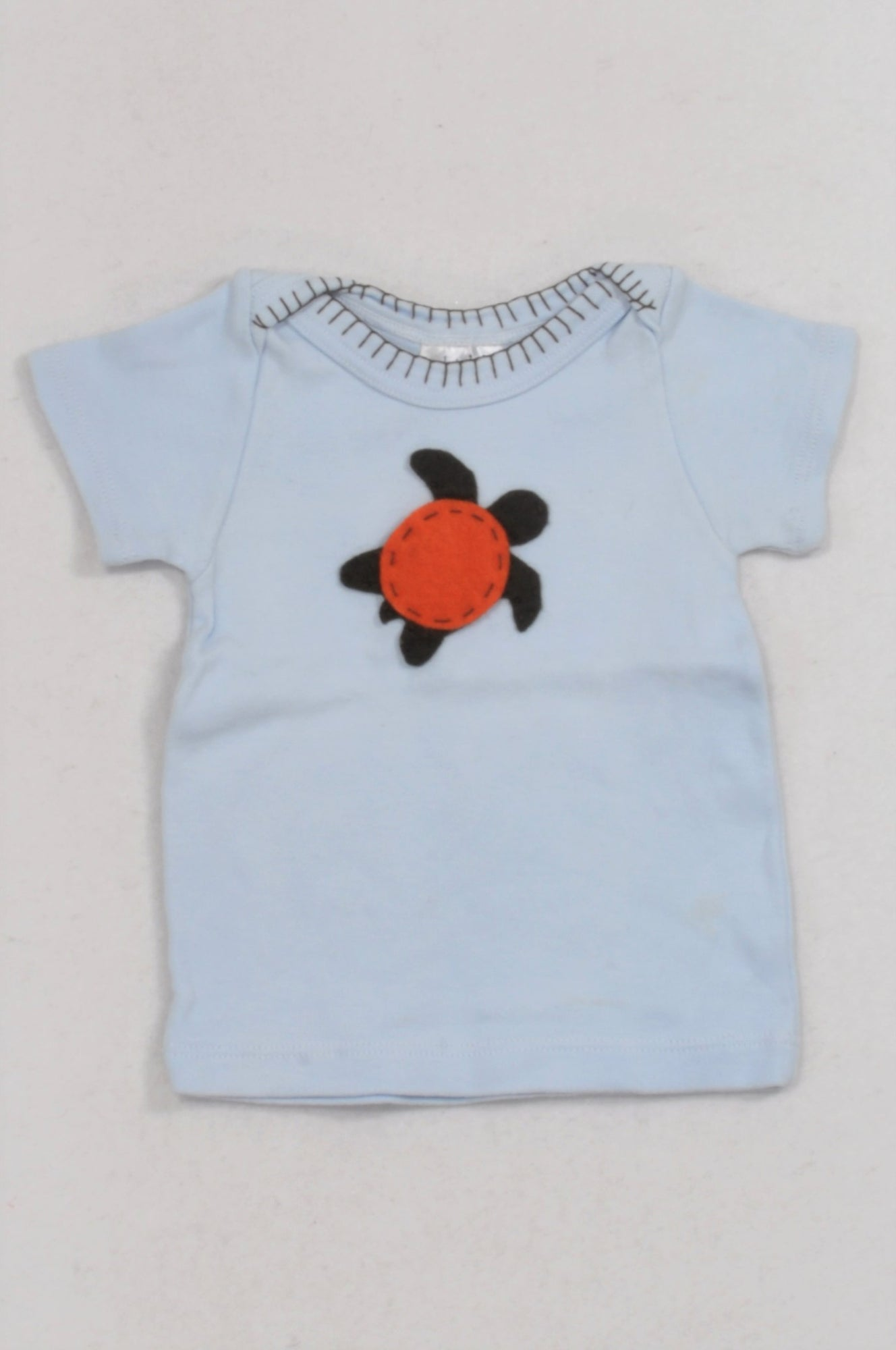 Stardust Trading Blue Turtle T-shirt Girls 0-3 months