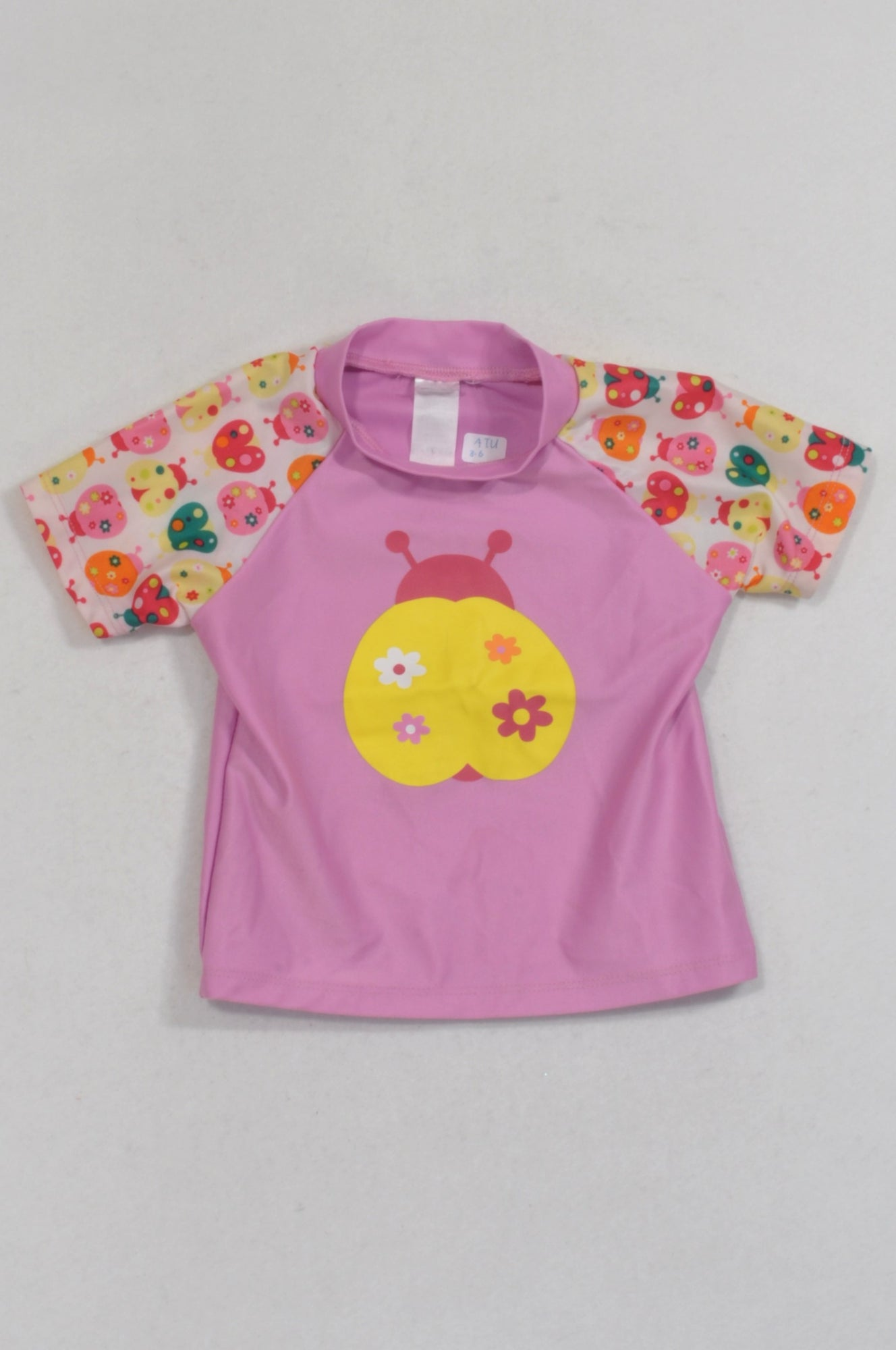 Ackermans Pink Ladybird Rash Vest Top Girls 3-6 months