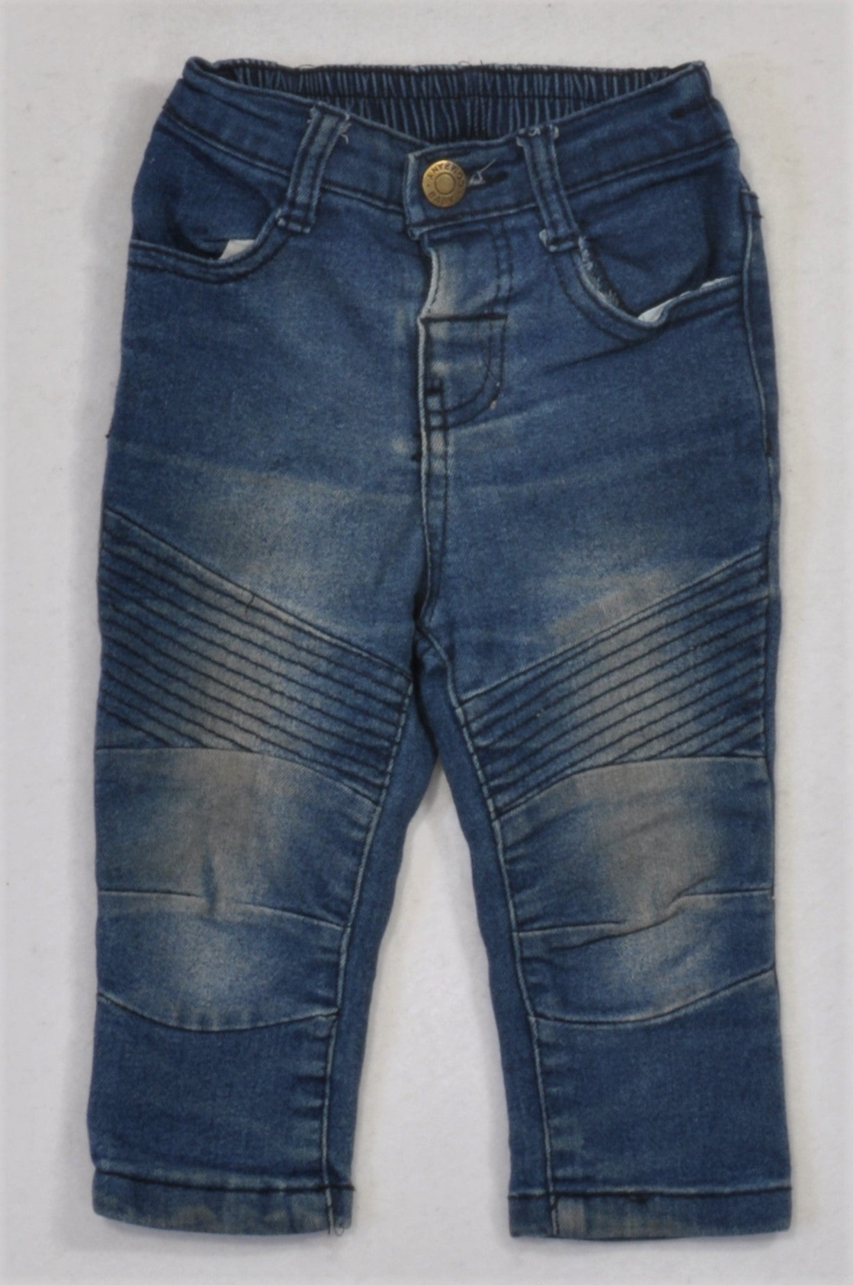 Ackermans Distressed Stone Wash Knee Detail Jeans Boys 6-12 months