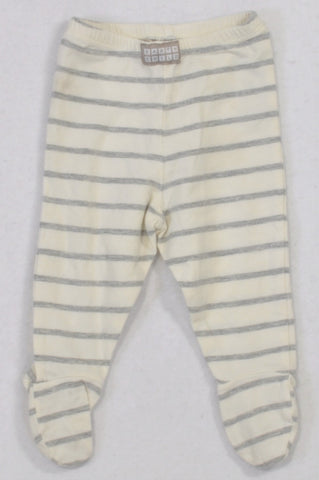 Earthchild Cream 7 Grey Heathered Footed Leggings Boys 3-6 months