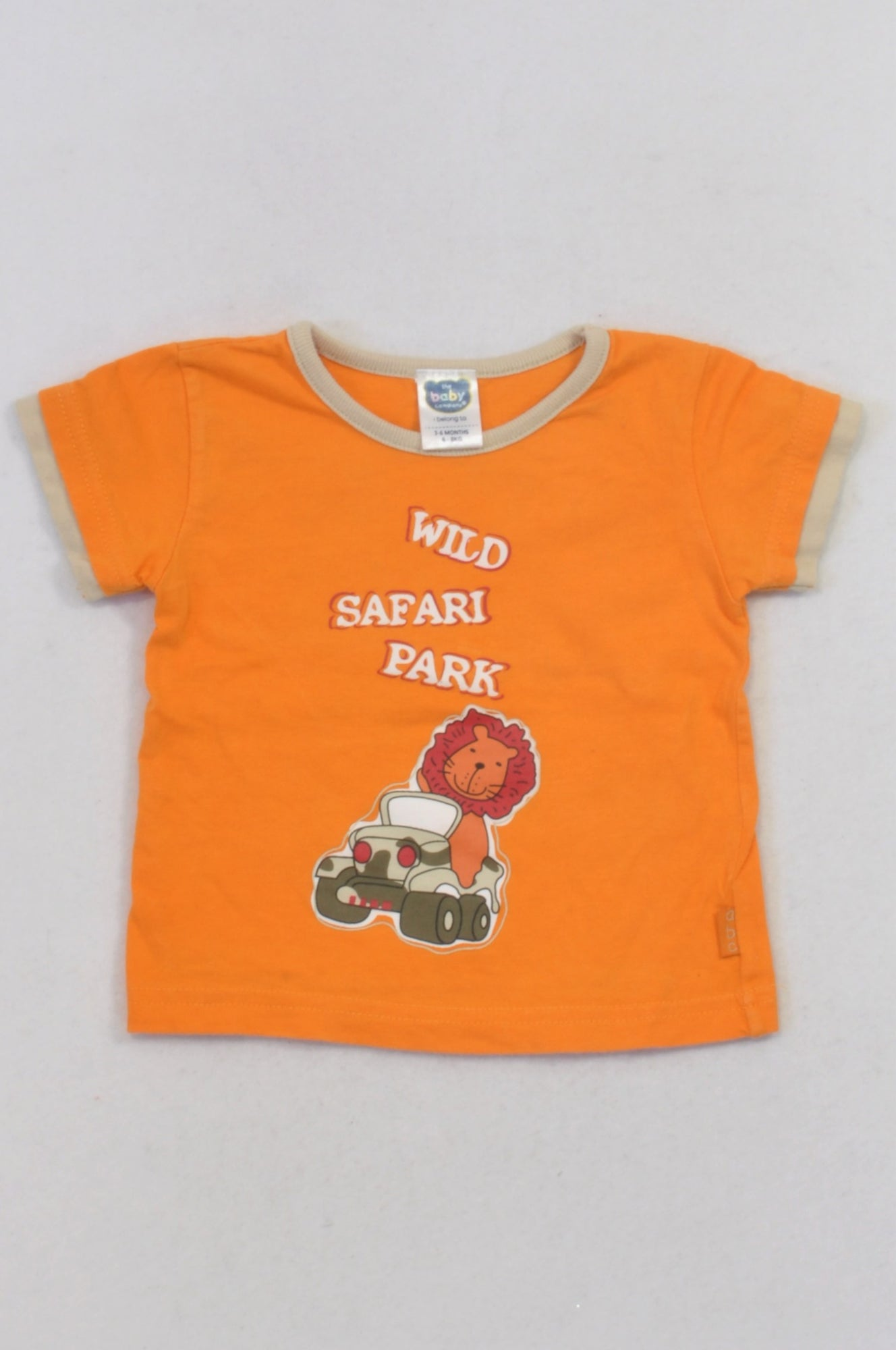Ackermans Orange Safari Park T-shirt Boys 3-6 months