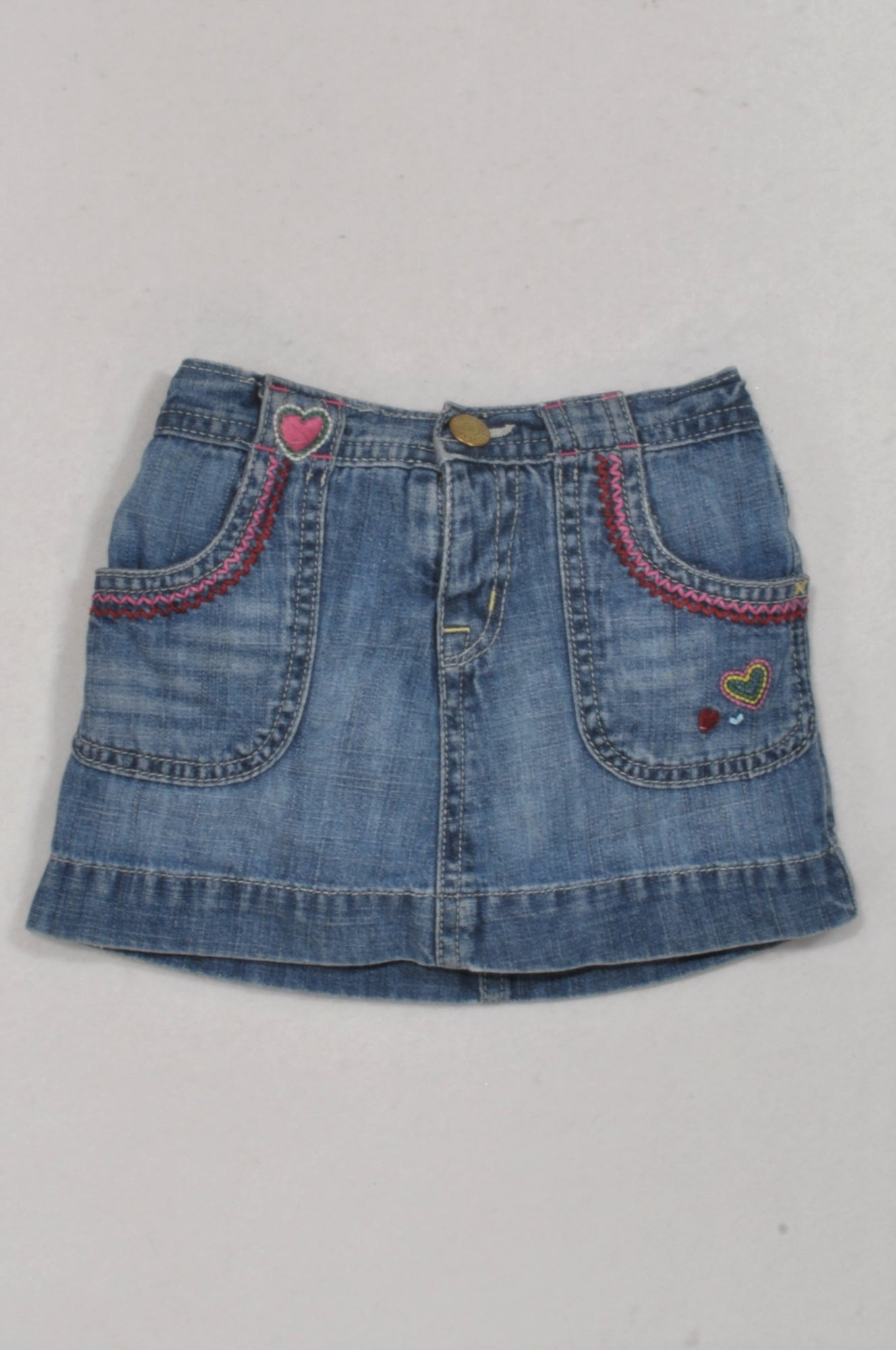 7e1f746bd78 GAP Denim Heart Embroidered Detail Skirt Girls 12-18 months – Once More