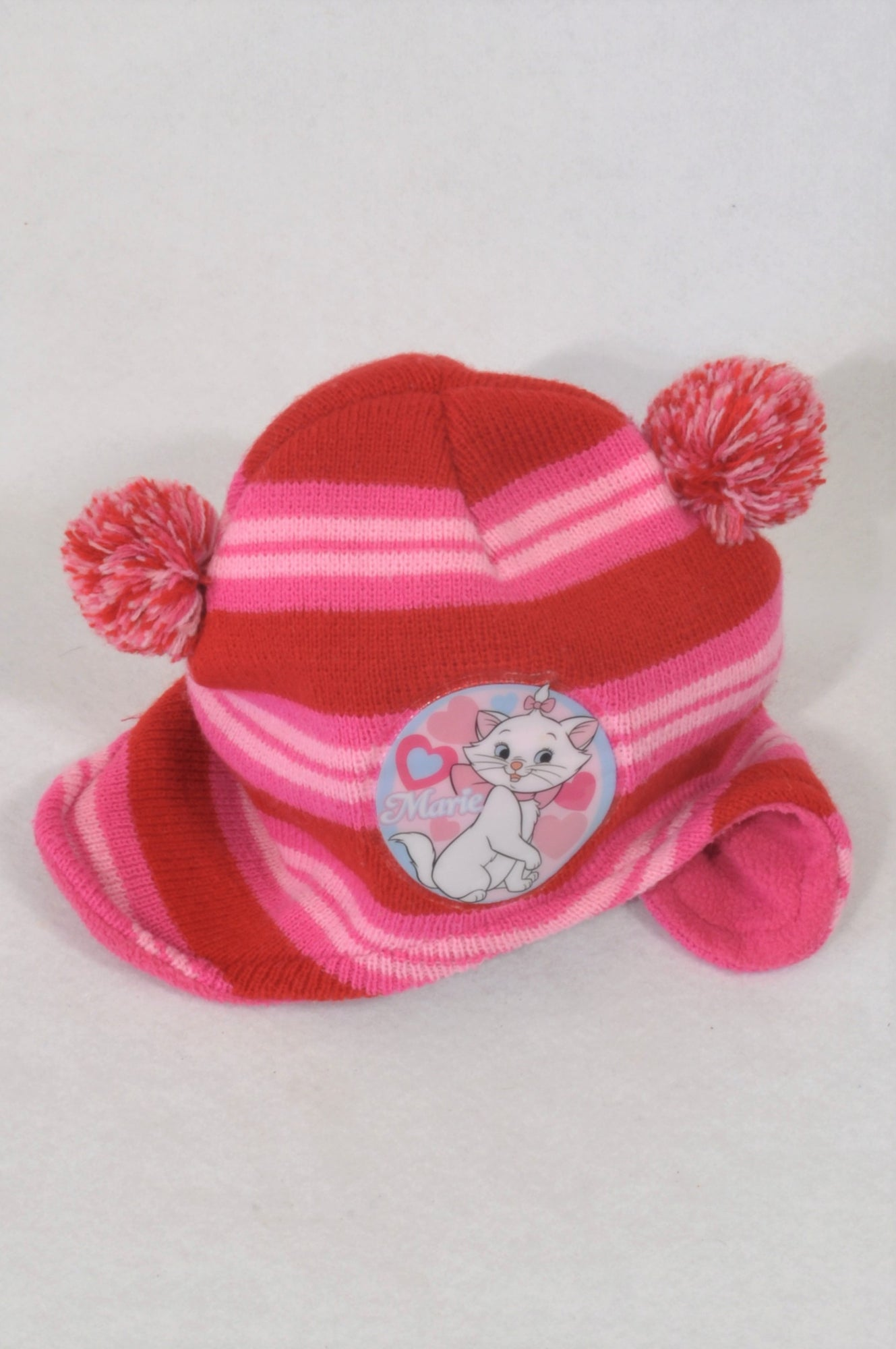 Disney Red & Pink Marie Knit Beanie Girls 1-2 years