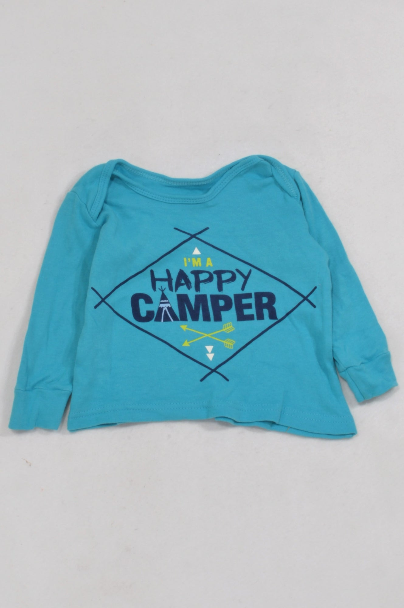 Woolworths Blue Happy Camper T-shirt Boys 3-6 months