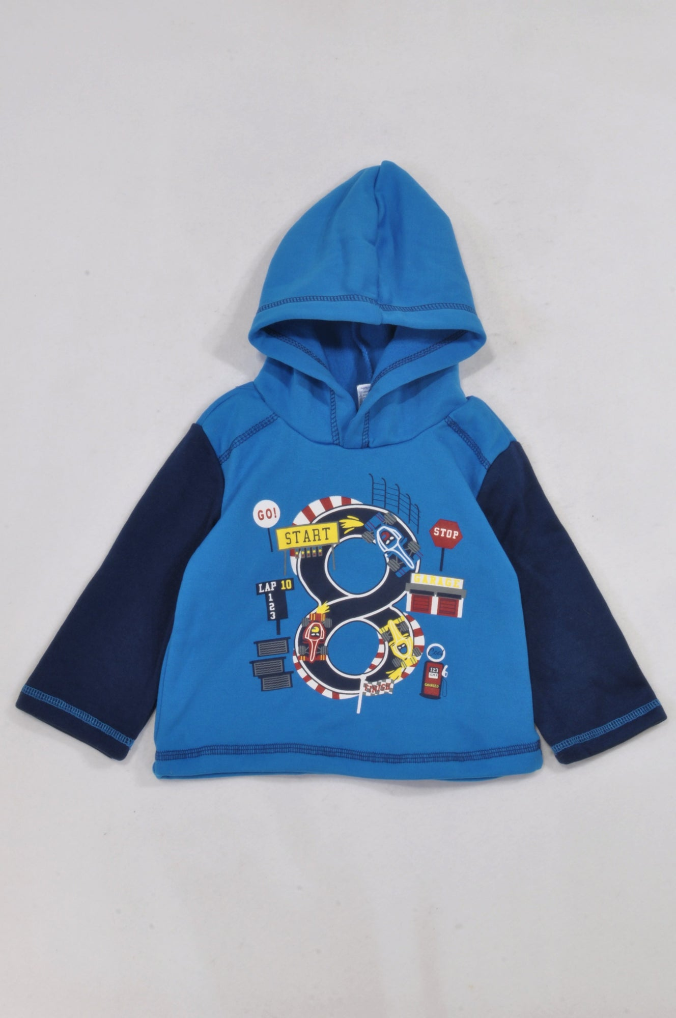 Ackermans Blue Stop Start Hoodie Boys 12-18 months