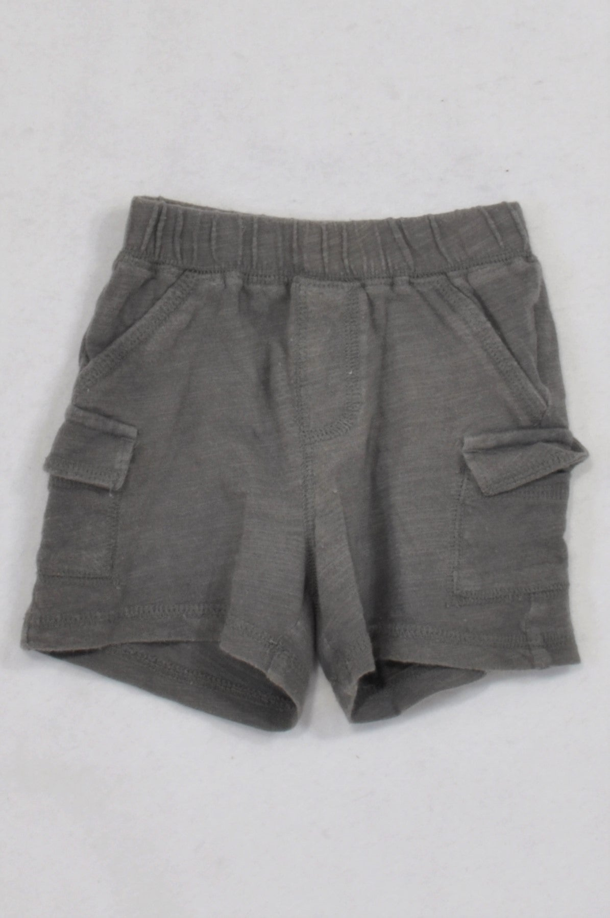 GAP Basic Grey Pocket Play Shorts Boys 3-6 months
