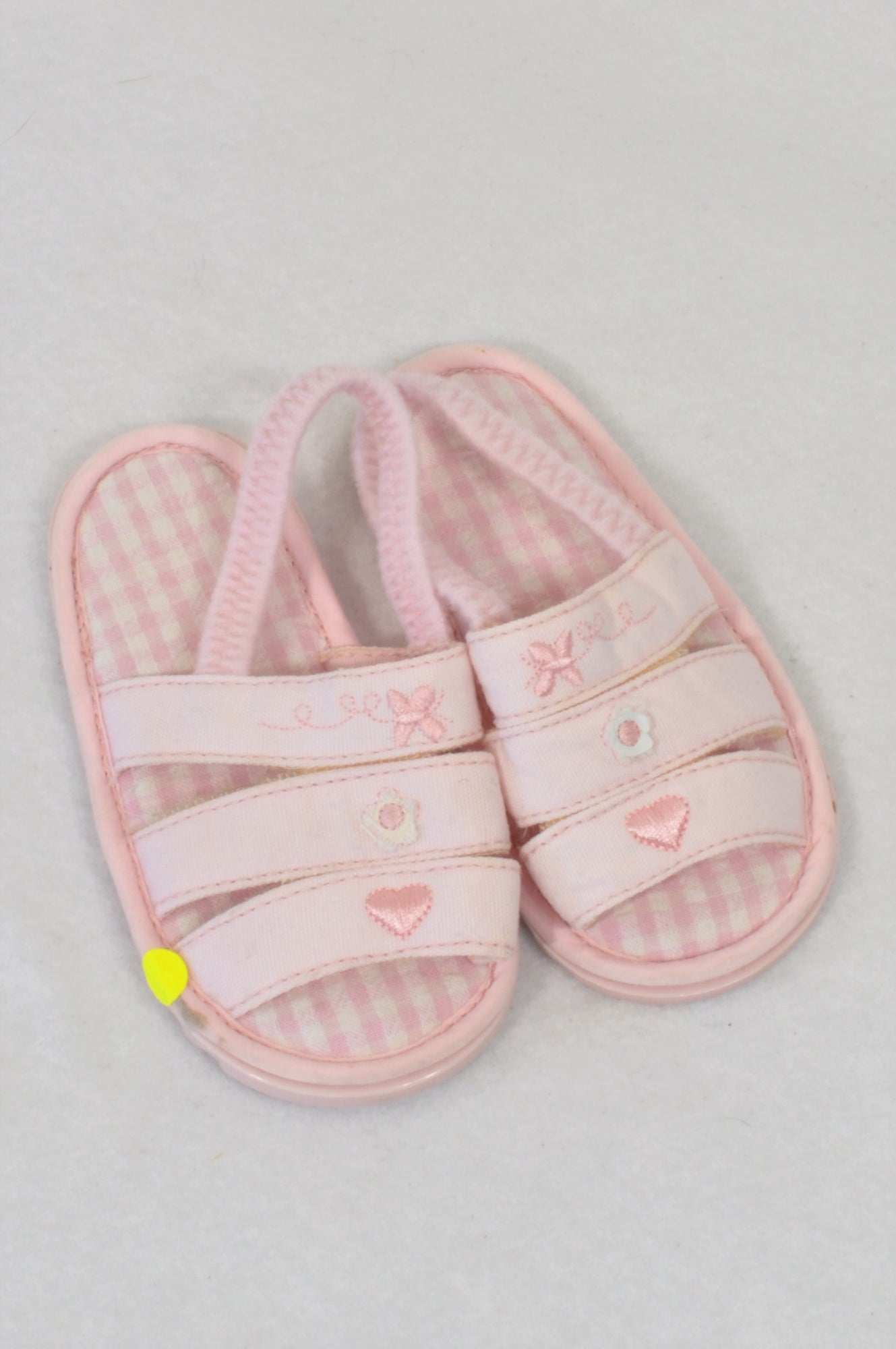 Pick 'n Pay Size 3 Soft Pink Embroidered Detail Sandals Girls 9-12 months
