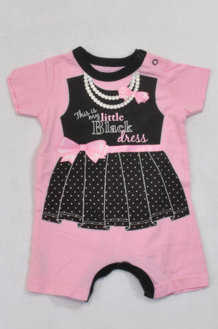 c4afa6c7a26e Woolworths Soft Pink Little Black Dress Romper Girls 0-3 months