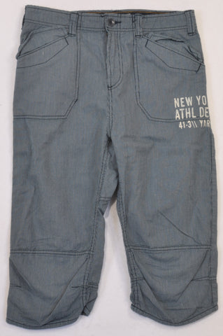 New H&M Navy Pinstripe New York Athl Dept Pants Boys 13-14 years