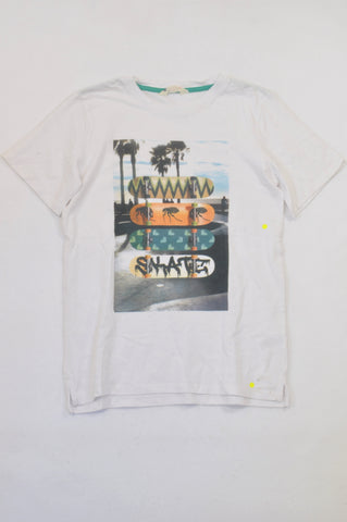 H&M White Skateboard Palm Tree T-shirt Boys 12-13 years