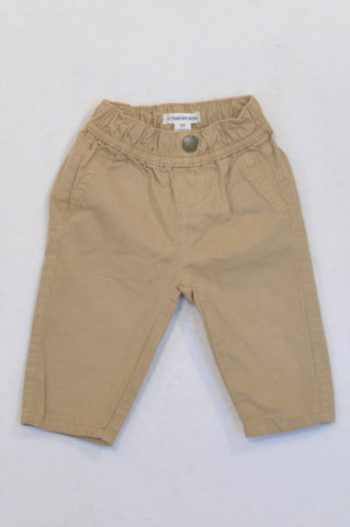 Country Road Khaki Faux Pocket Chino Pants Boys 3-6 months