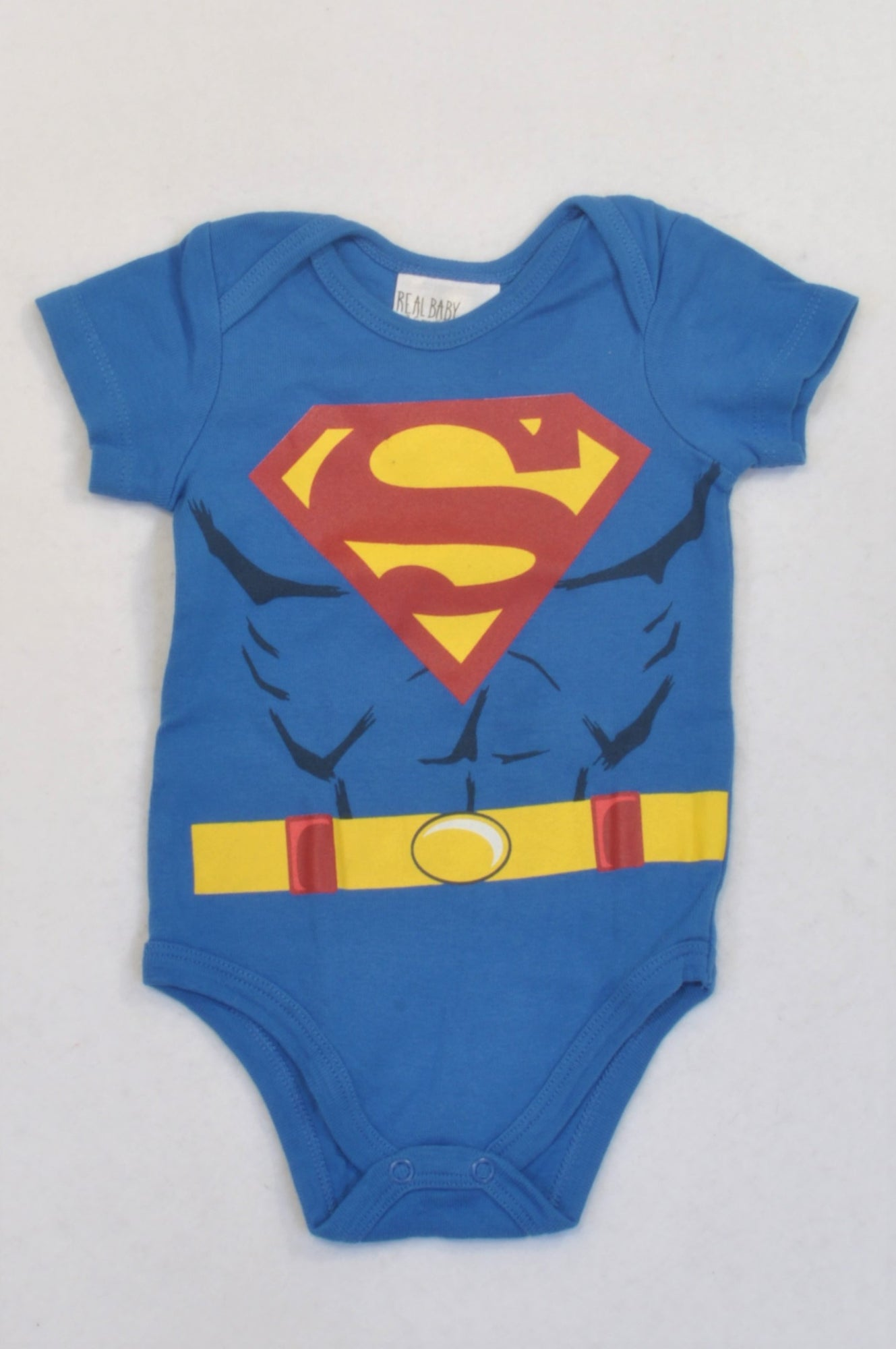 fca38b1d2230 Pick  n Pay Blue Superman Short Sleeved Baby Grow Boys 3-6 months ...