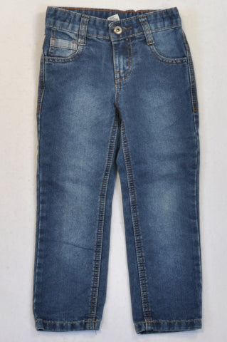 Woolworths Basic Stone Washed Straight Leg Jeans Unisex 3-4 years