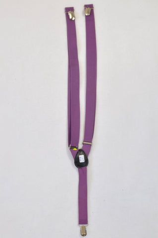 Purple Adjustable Suspenders Accessory Unisex 10-11 years