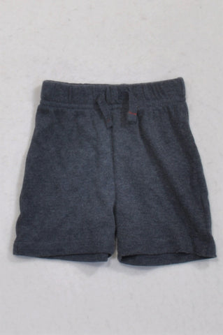 George Blue Heathered Play Shorts Boys 0-3 months