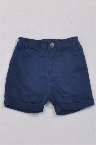 Marks & Spencers Royal Navy Roll-Up Shorts Unisex 3-6 months