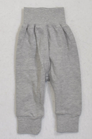 Little Lumps Basic Grey Cuffed Pants Boys Tiny Baby