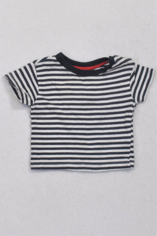Hullabaloo Navy & White Stripe T-shirt Boys 3-6 months
