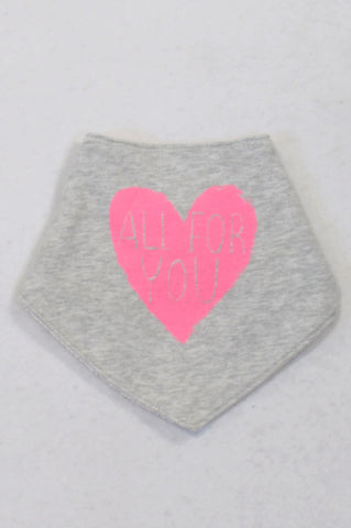 Next Grey All For You Heart Bib Girls N-B to 2 years