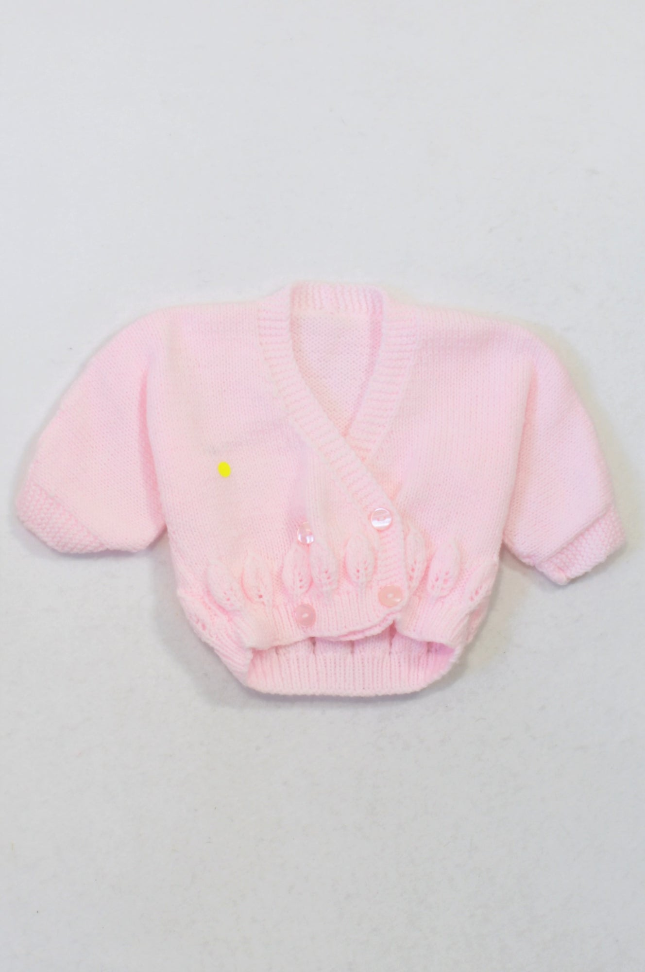 Handmade Pink Knit Double Breasted Cardigan Girls N-B