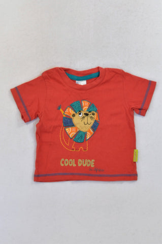 Hooligans Red Lion Cool Dude T-shirt Boys 0-1 month