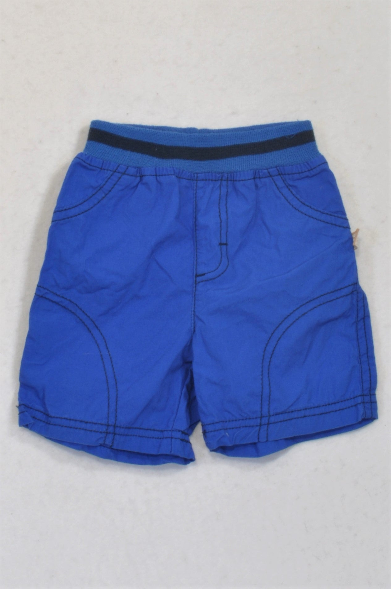 Ackermans Bright Blue Banded Shorts Boys 3-6 months