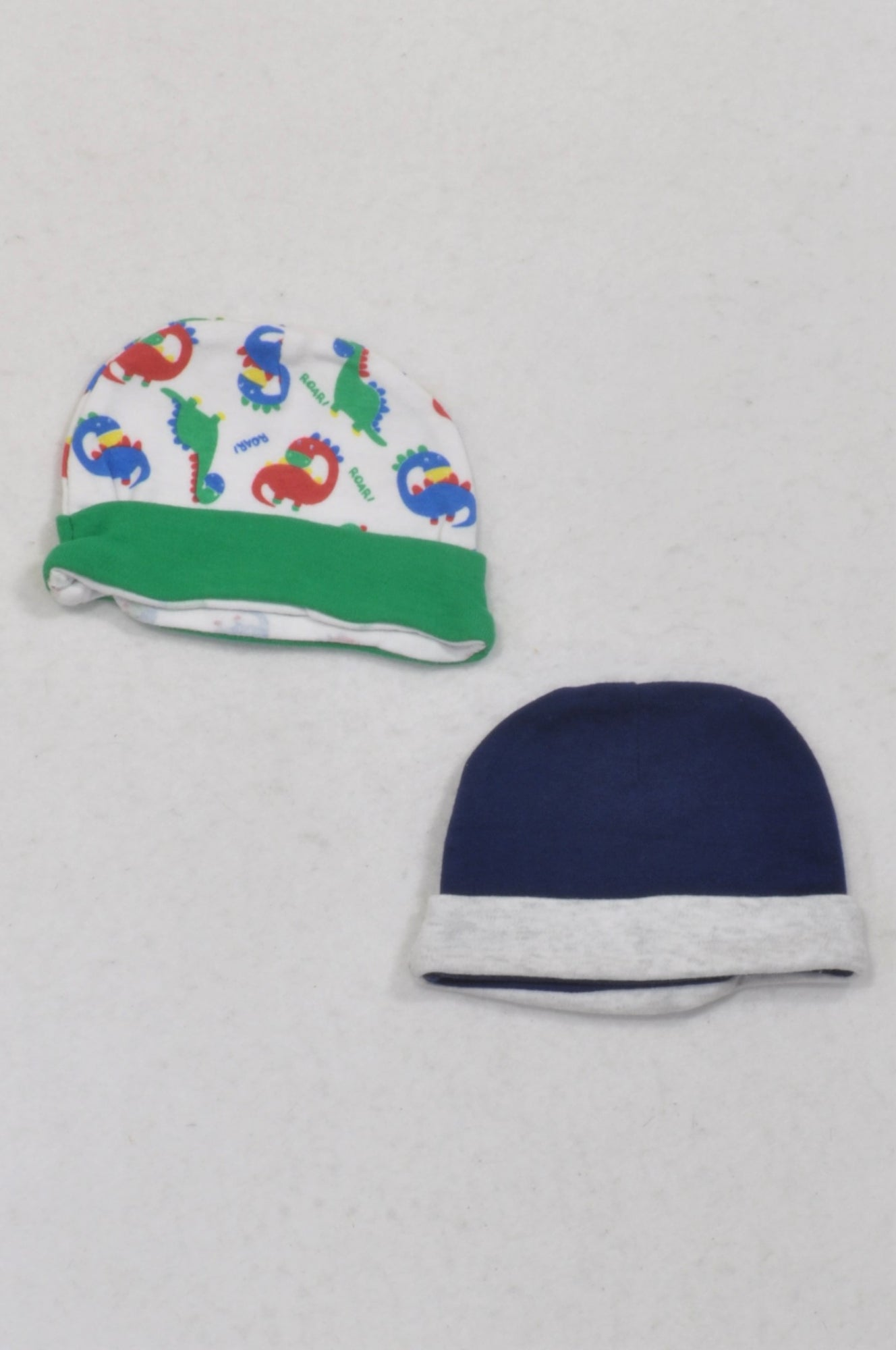 Ackermans 2 Pack Dino & Navy Beanies Boys N-B